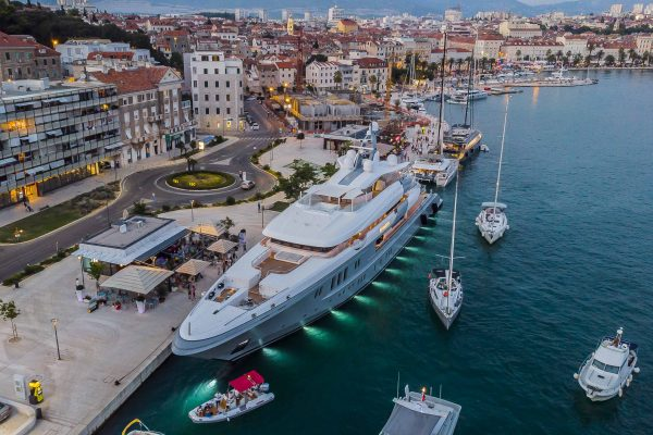 superyacht in Split
